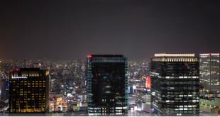 บรรยากาศค่ำคืนย่าน Umeda