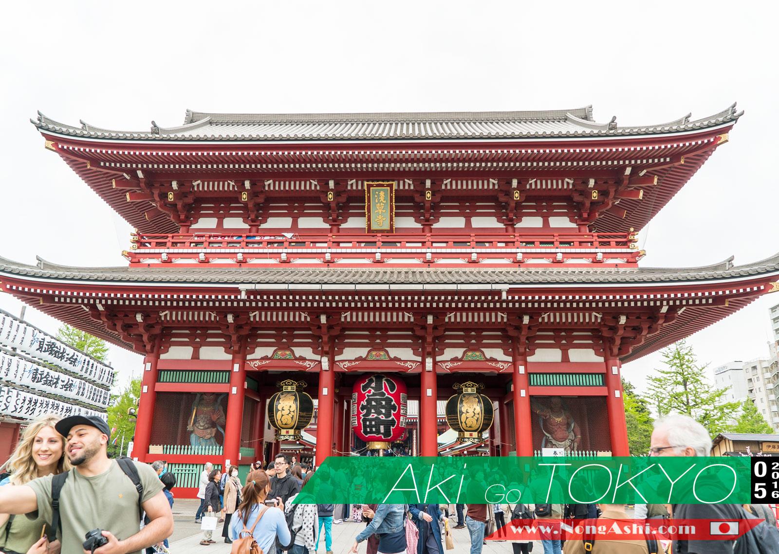 อกิน้อยไปเที่ยวญี่ปุุ่น Day1 : พาอกิน้อยมาเดินเล่นวัดเซ็นโซจิ หรืออีกชื่อว่าวัดอะซากุซะ
