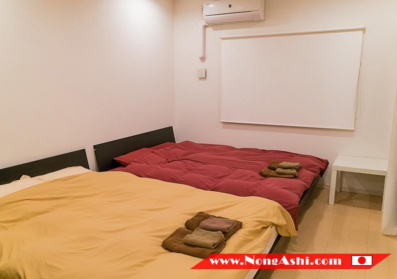 ห้องนอน Shinsaibashi Top Floor Suite