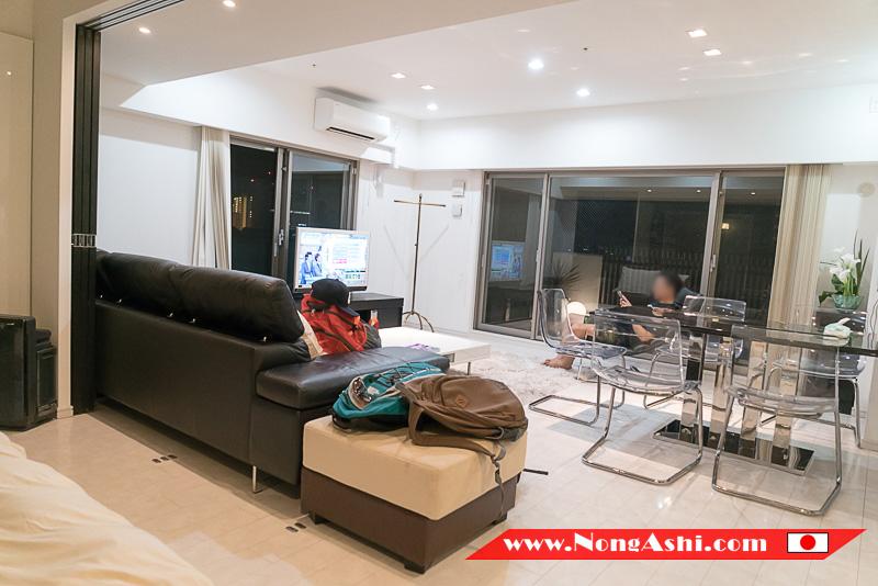 ห้องรับแขก Shinsaibashi Top Floor Suite