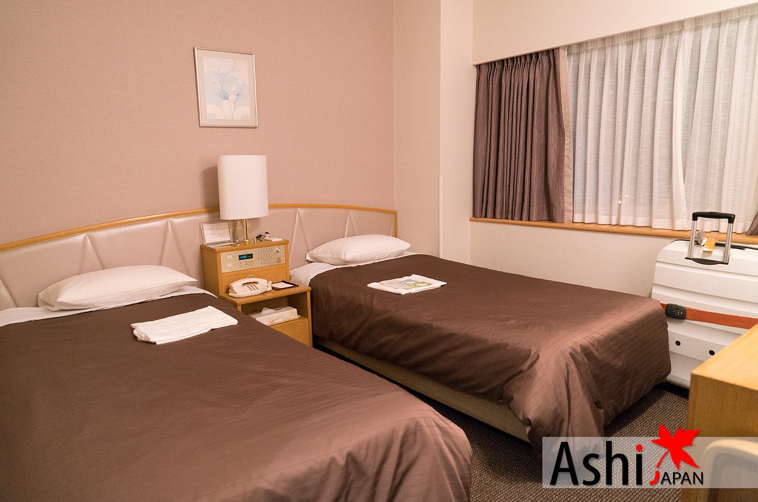 ภายในห้องพักโรงแรมนิวฮังเคียว โอซาก้า