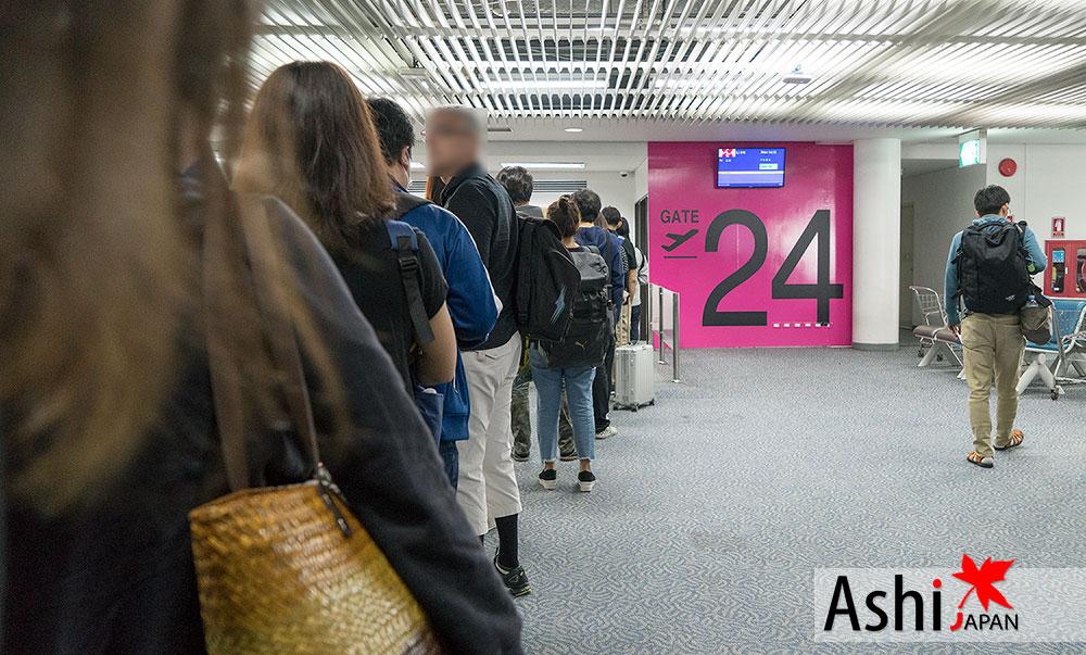 วันนี้ Airasia X ให้มาขึ้นที่ Gate 24