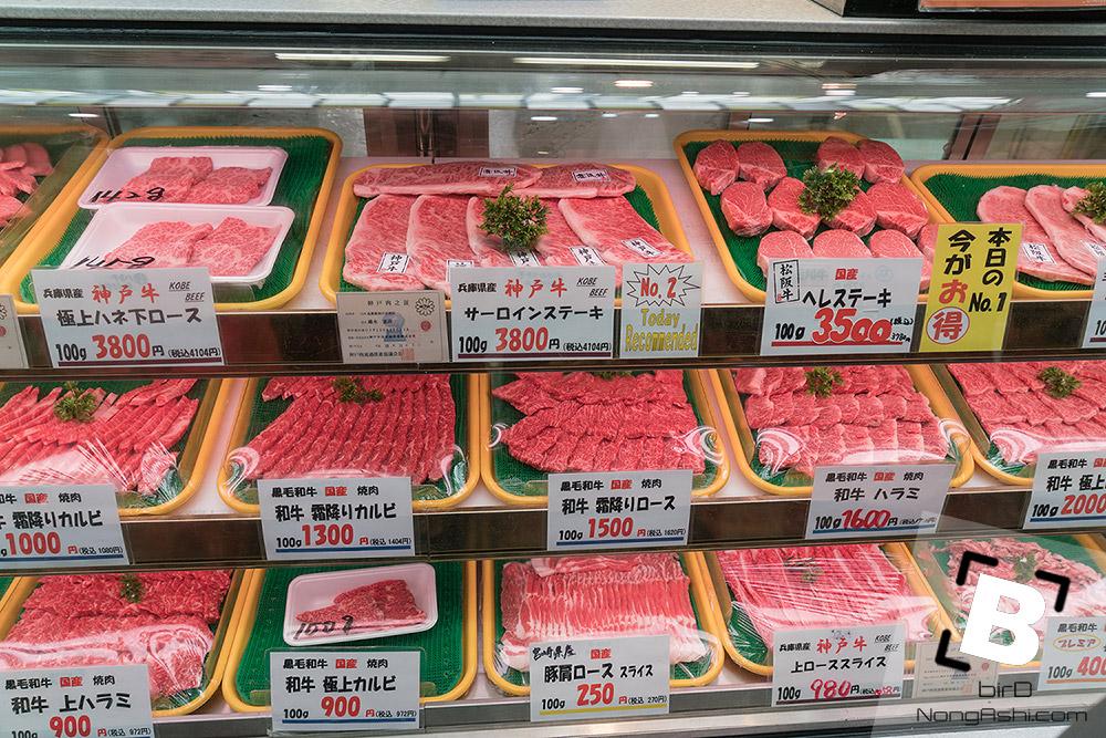 เนื้อที่ตลาด kuromon
