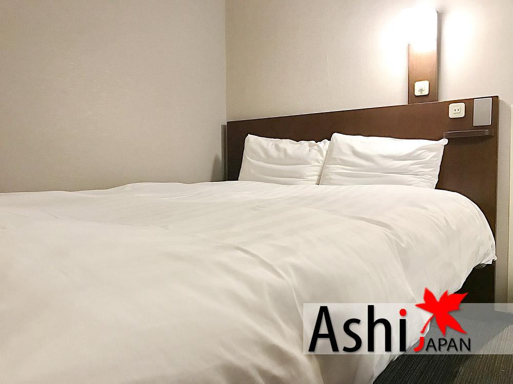 เตียงนอนมาตราฐานโรงแรมญี่ปุ่น
